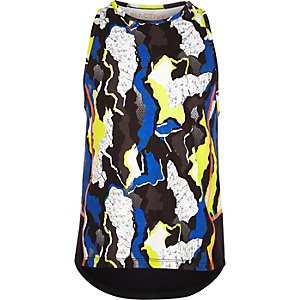 Girls RI Active blue camo print gym vest