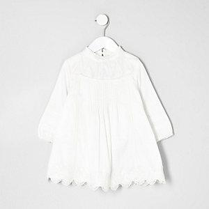 Mini girls cream lace dress