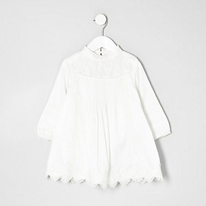 Mini girls cream lace dress