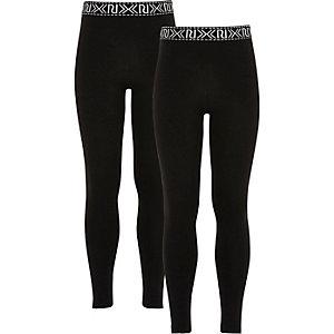 Set met zwarte legging met logo voor meisjes