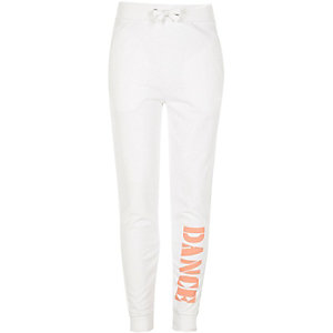 Girls RI Active white 'Dance' sports joggers
