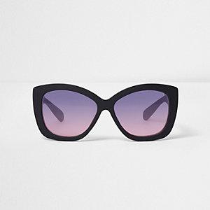 Schwarze Oversized Cateye-Sonnenbrille