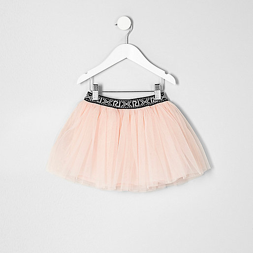 Mini girls pink tutu skirt