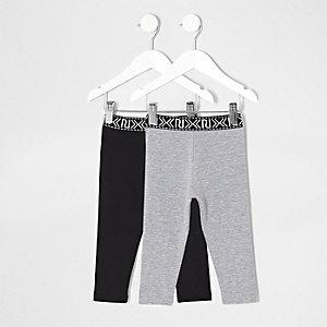 Leggings in Schwarz und Grau
