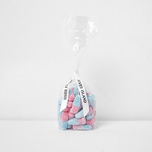 Girls pink and blue bottle candy