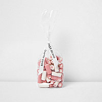 Pink strawberries and cream candy