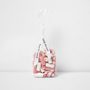 Pink strawberries and cream sweets