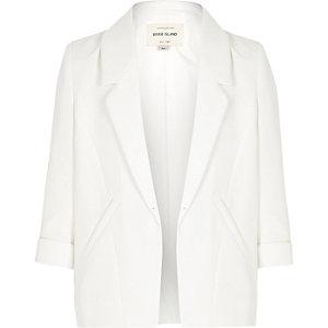 Girls white smart blazer