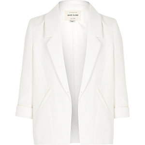 Girls white smart blazer