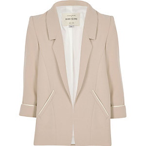 Girls blush pink smart blazer