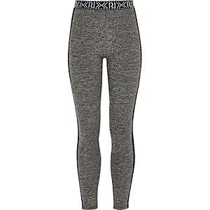 Grijze legging met mesh detail voor meisjes