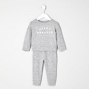 Mini girls grey heartbreaker joggers set