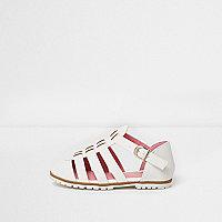 Sandales blanches texturées mini fille