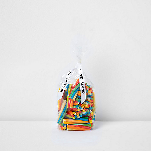 Blue peelable candy