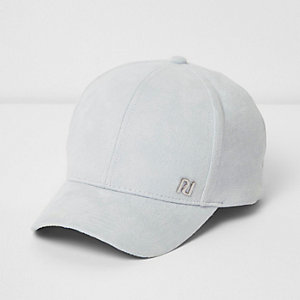 Girls blue faux suede cap