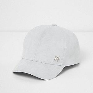 Mini girls blue faux suede cap