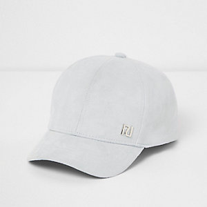 Mini girls blue faux suede cap