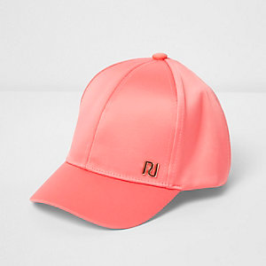 Mini girls satin cap
