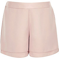 Girls pink high waisted shorts