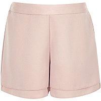Pinke, doppellagige Shorts