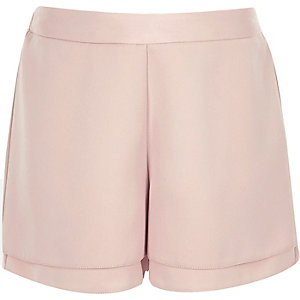 Girls pink double layer shorts