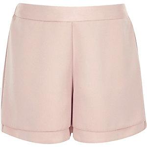 Roze short met hoge taille voor meisjes