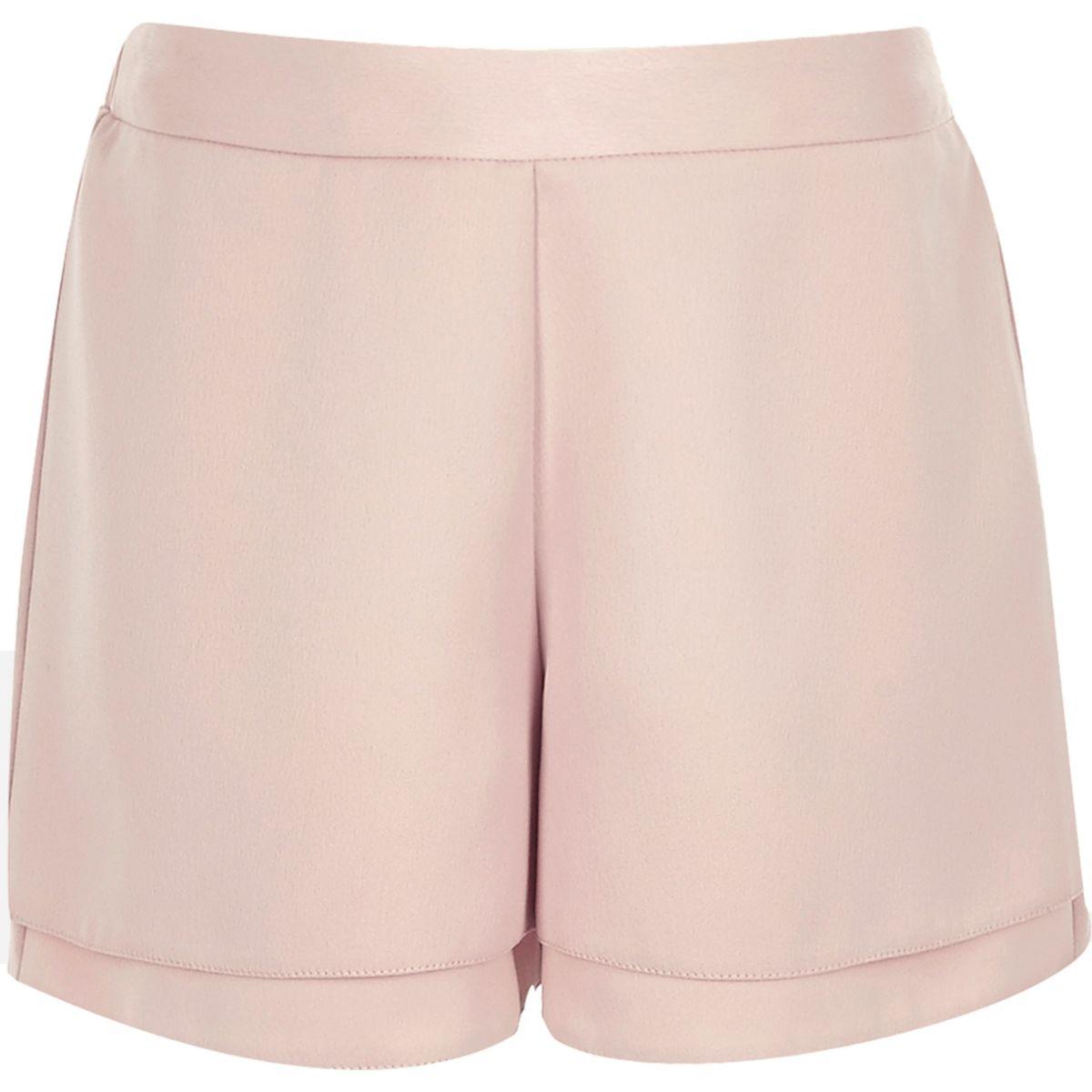 Girls pink high waisted shorts