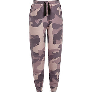Girls pink camo joggers