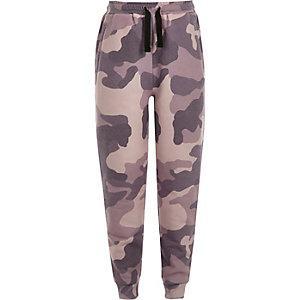 Pantalon de jogging camouflage rose pour fille