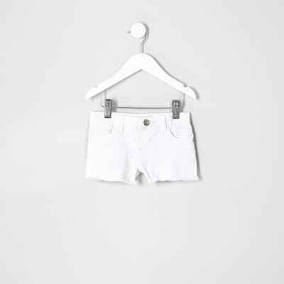Witte denim short voor mini girls