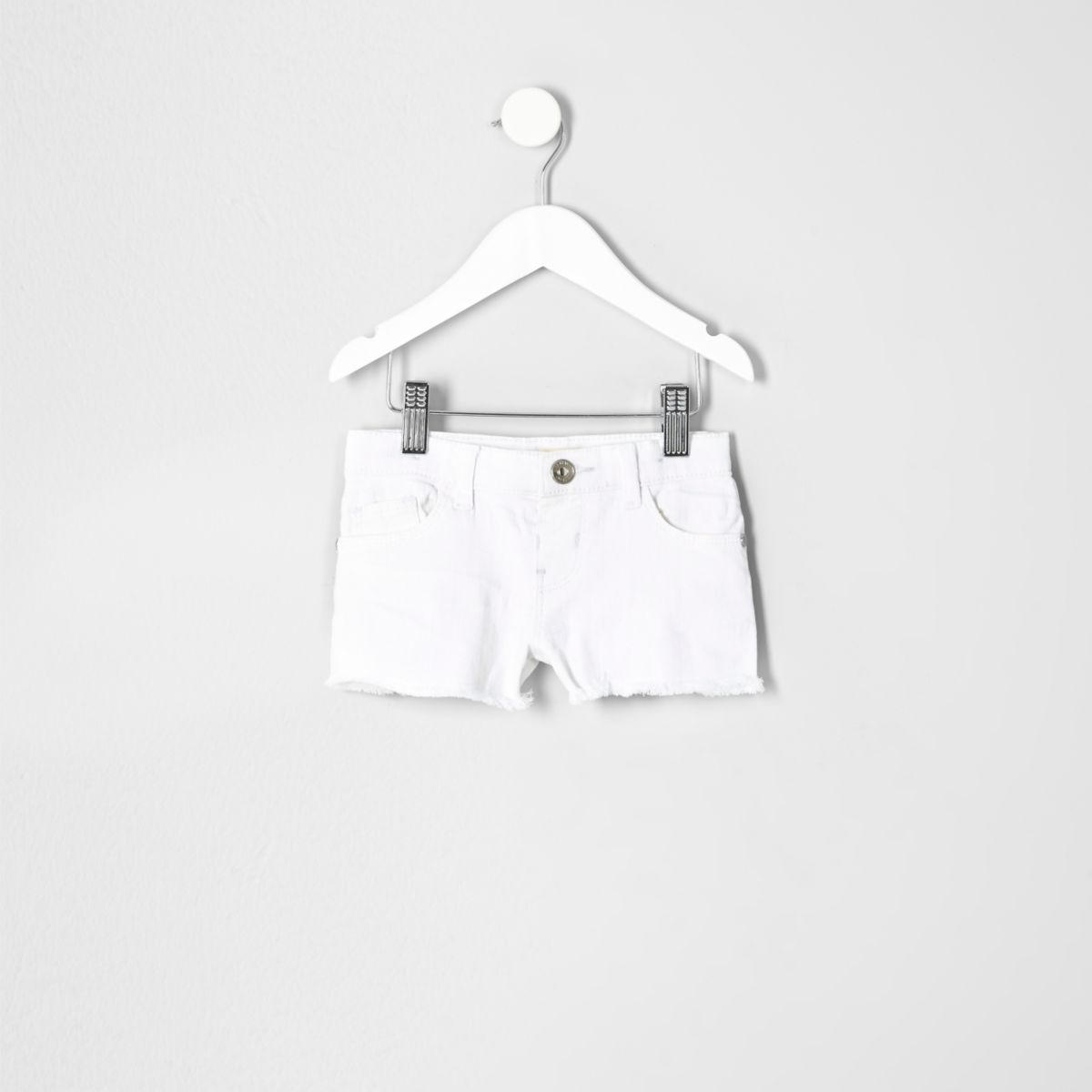 Short en jean blanc mini fille