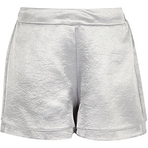 Girls silver double layer shorts