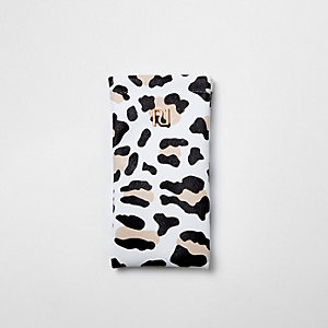 Girls animal print sunglasses case