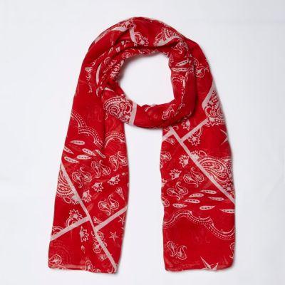 Rode sjaal met bandanaprint voor meisjes