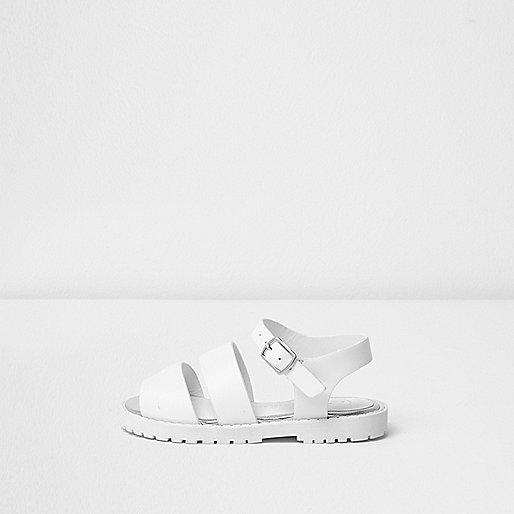 Mini girls white chunky sandals