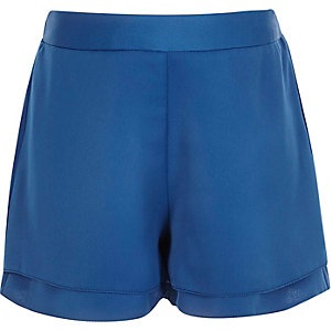 Girls blue high waisted shorts