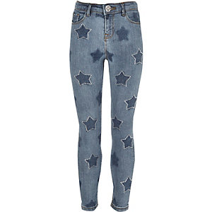 Girls blue star Amelie super skinny jeans