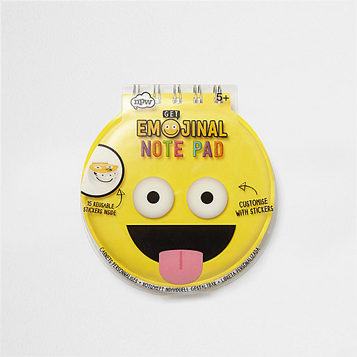 Girls yellow Emoji note pad