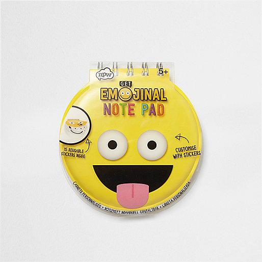 Girls yellow Emoji note pad