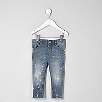 Mini girls blue Amelie skinny jeans