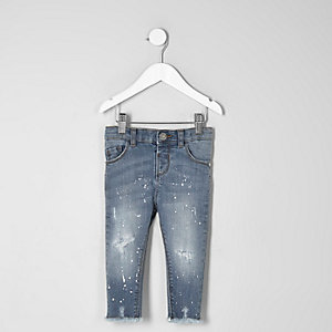 Mini - Blauwe Amelie skinny jeans voor meisjes