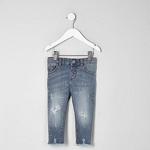 Mini girls blue Amelie skinny jeans