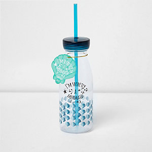 Girls blue Mermaid drink bottle