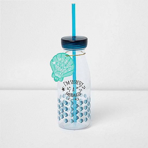 Girls blue Mermaid drink bottle