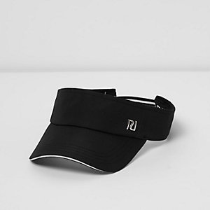 Girls black tipped sporty visor