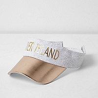 Girls grey foil print visor