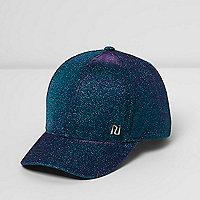 Girls blue glitter cap