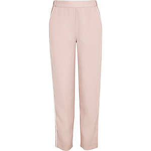 Girls pink soft trousers