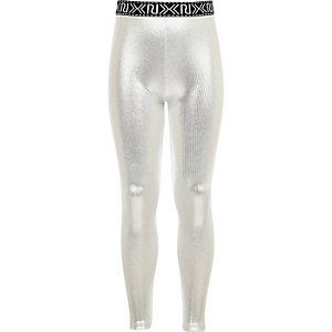 Legging argenté métallisé pour fille
