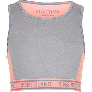 RI Active – Crop top de sport gris pour fille